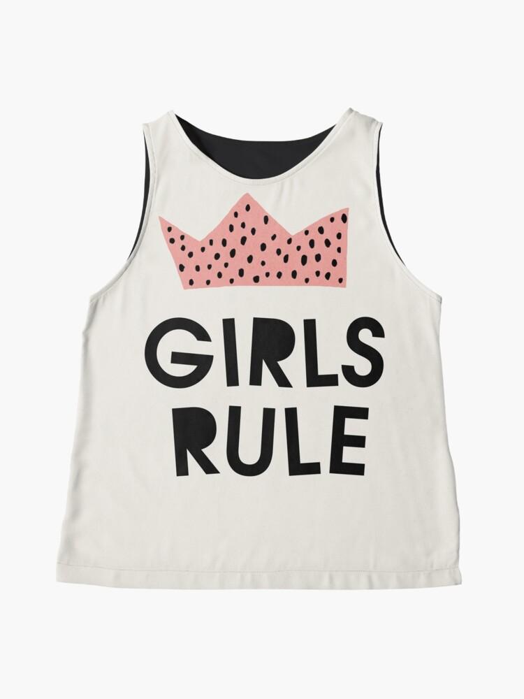 Alternate view of Girls rule, Abstract, Mid century modern kids wall art, Nursery room Sleeveless Top