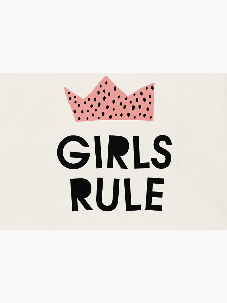 Girls rule, Abstract, Mid century modern kids wall art, Nursery room by juliaemelian