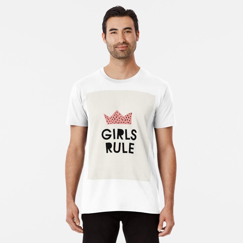 Mädchen herrschen, abstrakt, Mitte des Jahrhunderts moderne Kinder Wandkunst, Kinderzimmer Premium T-Shirt