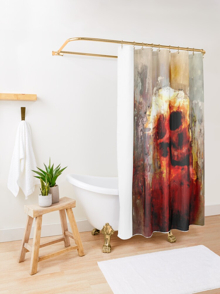 """Alternate view of """"Joanne - Lived, Loved, Lied, Died Series II"""" Shower Curtain"""