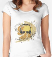 Male Dj Illustration 3 Women's Fitted Scoop T-Shirt