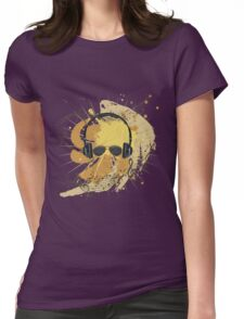 Male Dj Illustration 3 Womens Fitted T-Shirt