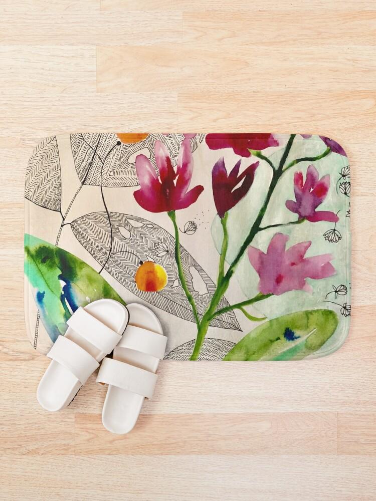 Alternate view of botanical composition Bath Mat