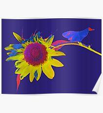 Pop Art Sunflower Poster