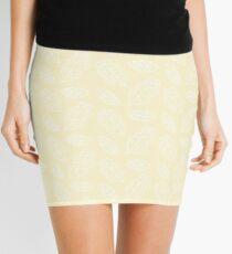 Wonderland Leaves   Neutral Colors Mini Skirt