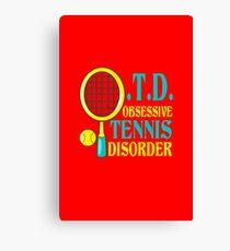 Funny tennis geek funny nerd Canvas Print