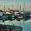 Early morning boatyard by Brian Tarr