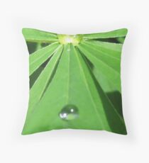 Rain, natures piercing immitation. Throw Pillow