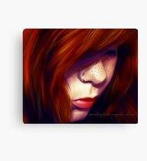 sprinkling freckles everywhere she goes Canvas Print