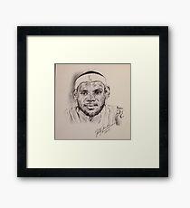 LEBRON JAMES PORTRAIT Framed Print