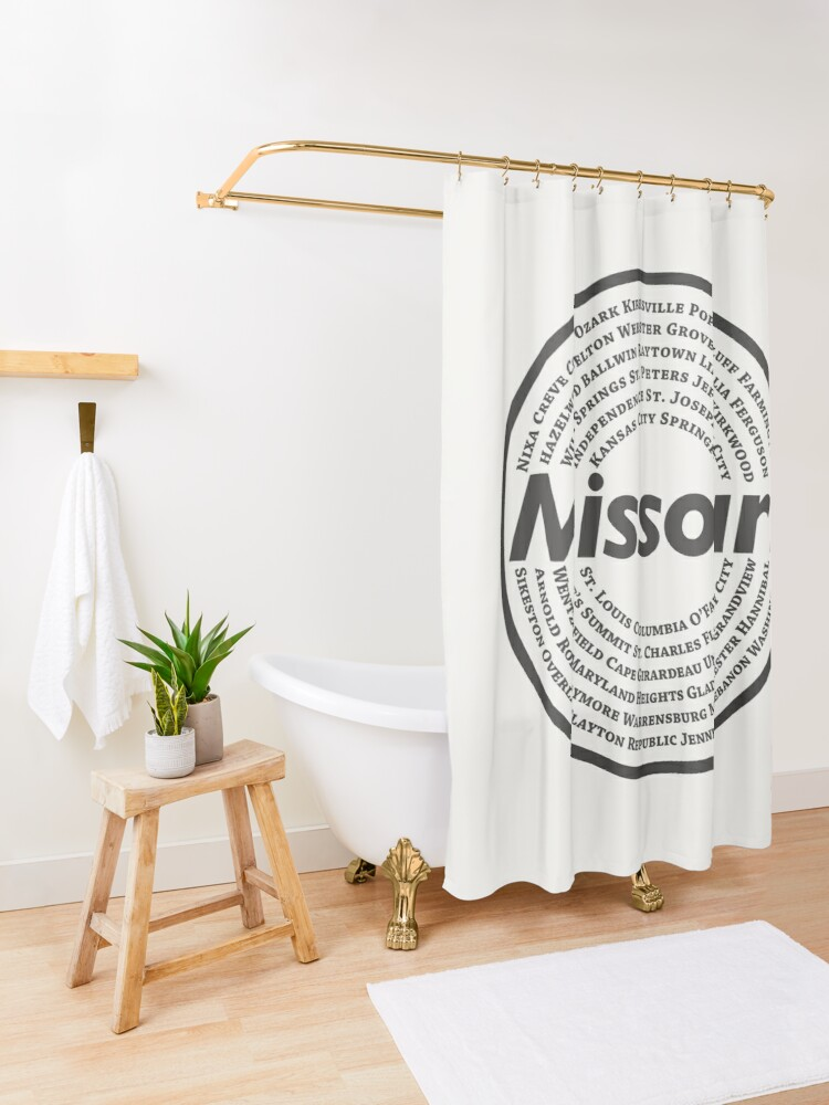 Alternate view of Missouri Shower Curtain