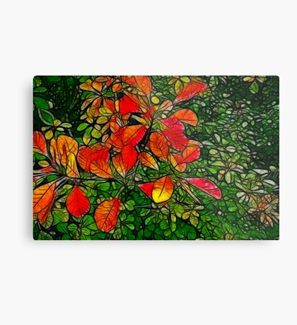 Autumn - Red Leaves Metal Print