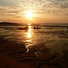 Middle Lagoon Sunset between Cape Leveque and Broome WA. by Carollyn Rhodes-Thompson