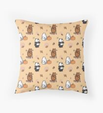 We Bare Bears Autumn Pattern Throw Pillow