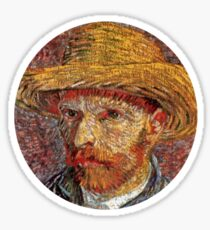 Van Gogh Self Portrait 1/5 Sticker