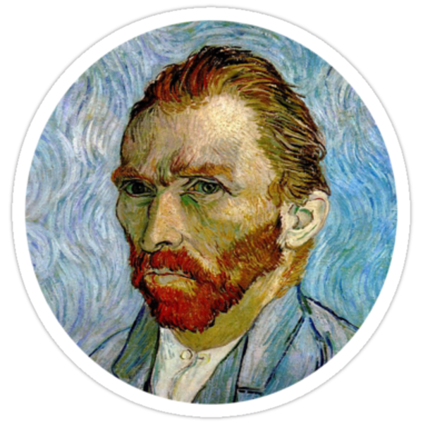 Quot Van Gogh Self Portrait 3 5 Quot Stickers By Supercena Redbubble