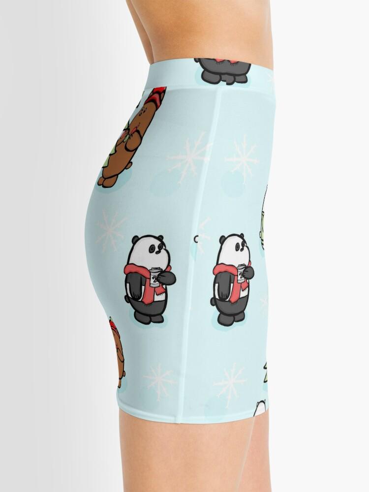 Alternate view of We Bare Bears Christmas Pattern Mini Skirt
