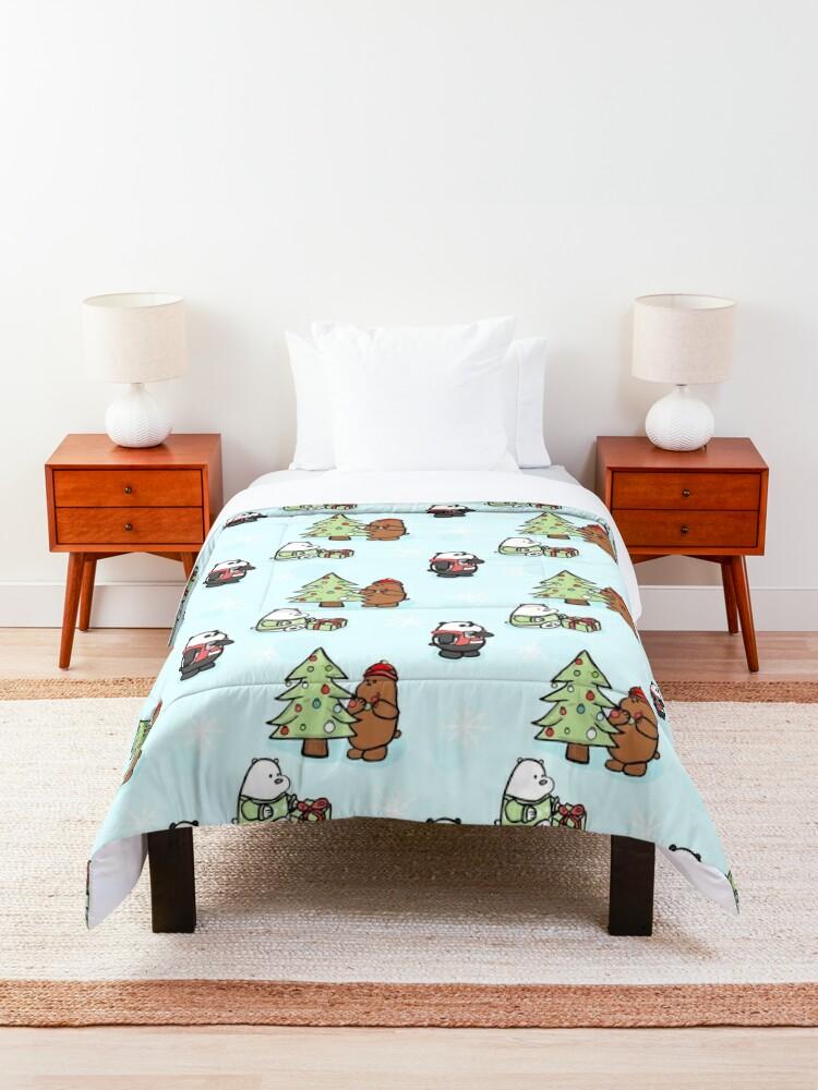 Alternate view of We Bare Bears Christmas Pattern Comforter