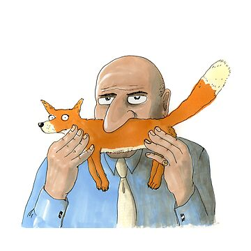 Sniffox, a man sniffing a fox by LordOtter