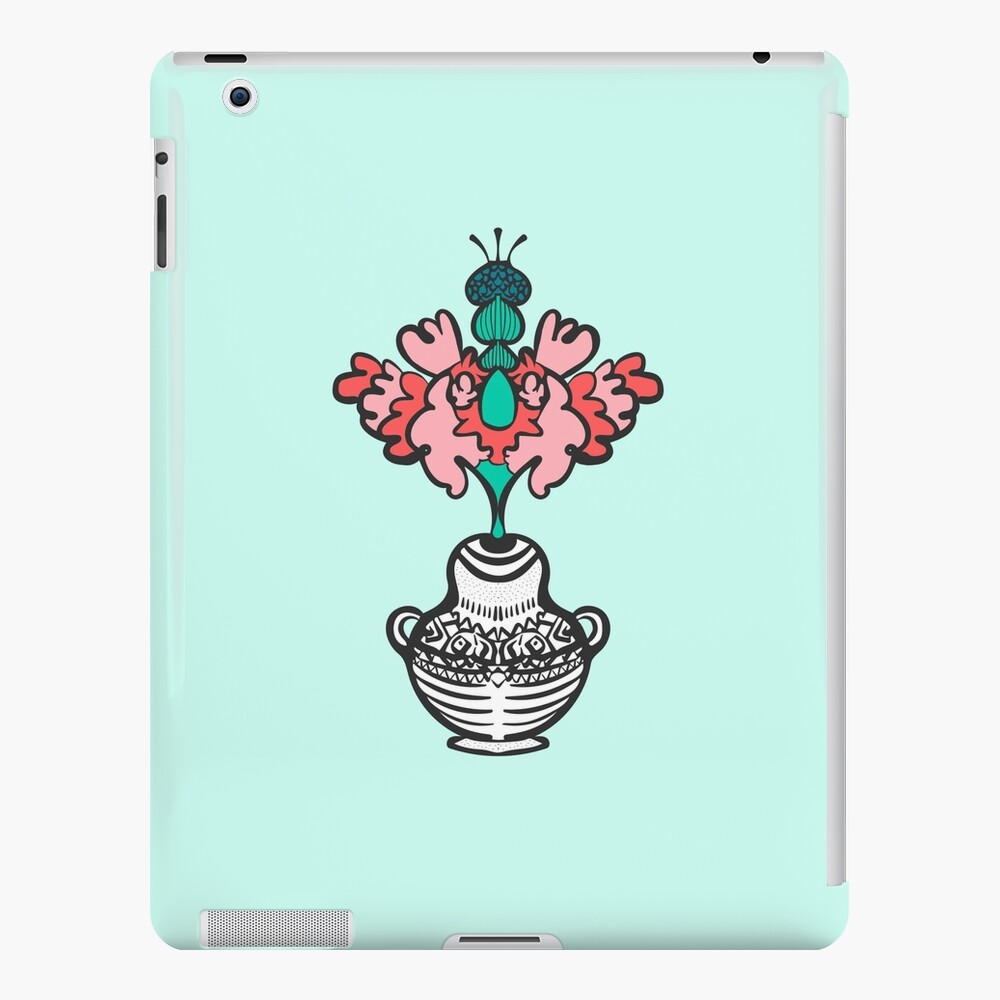 Abstract Bouquet of Flowers in Vase, Modern Colors iPad Snap Case