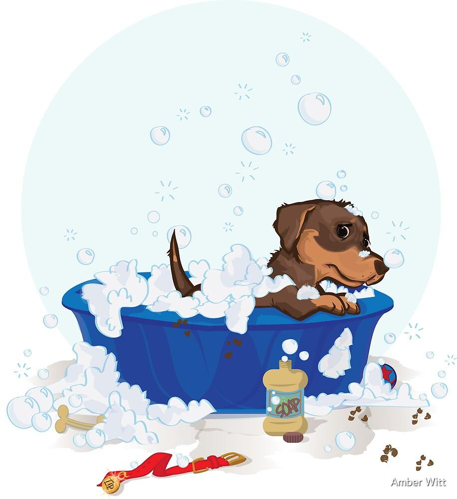 Tip taking a bath :( by Amber Witt