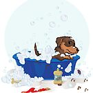 Tip taking a bath :( by Amber Witt