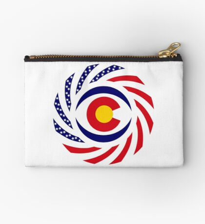 Coloradan Murican Patriot Flag Series Zipper Pouch