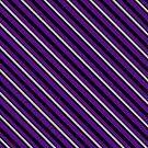 Stripes (Large) - Violet and Pewter by Sarinilli