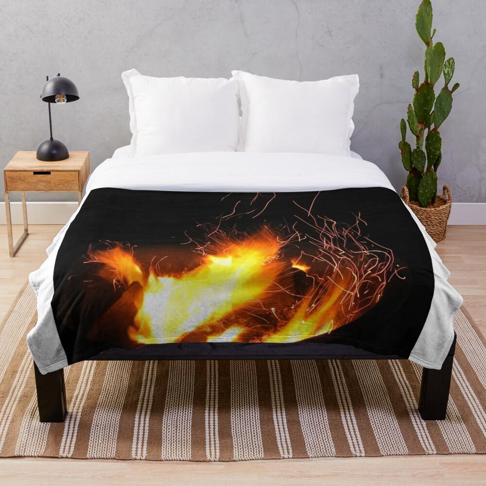 Campfire Throw Blanket
