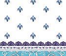Plum Fluer De Lis Pattern by EverIris