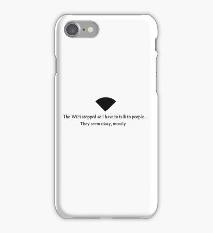 WiFi Stopped iPhone Case/Skin