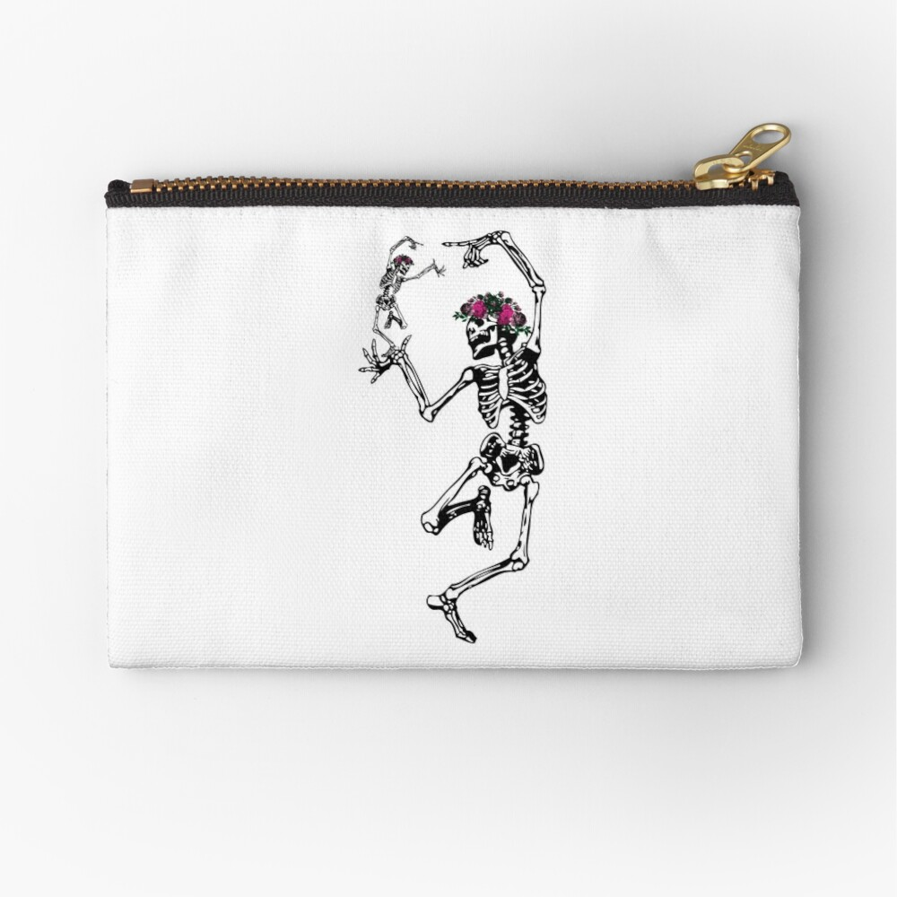 Two Dancing Skeletons | Day of the Dead | Dia de los Muertos | Skulls and Skeletons | Zipper Pouch