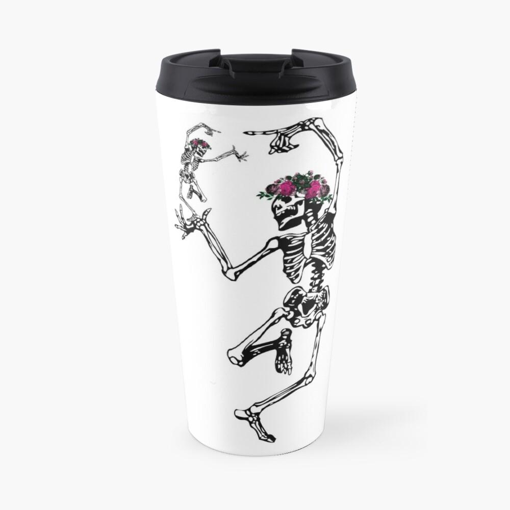 Two Dancing Skeletons | Day of the Dead | Dia de los Muertos | Skulls and Skeletons | Travel Mug