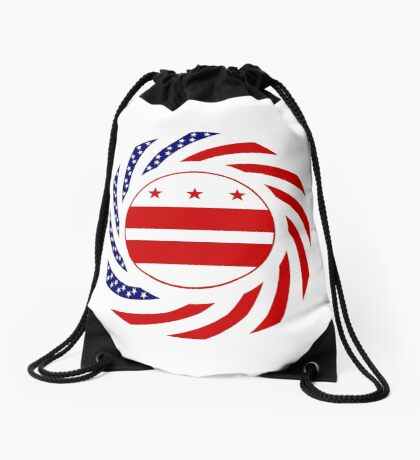 DC Murican Patriot Flag Series Drawstring Bag