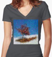 Dendrification 12 Fitted V-Neck T-Shirt