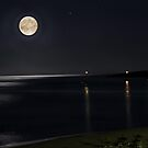 Full Moon over Cala Millor by Rosy Kueng Photography