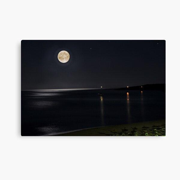 Full Moon over Cala Millor Canvas Print