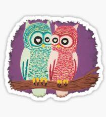 Owl Couple Sticker