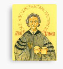 Saint Feynman Canvas Print
