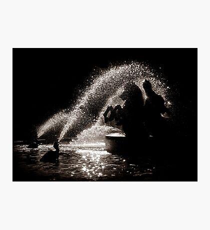 Horses fountain Photographic Print
