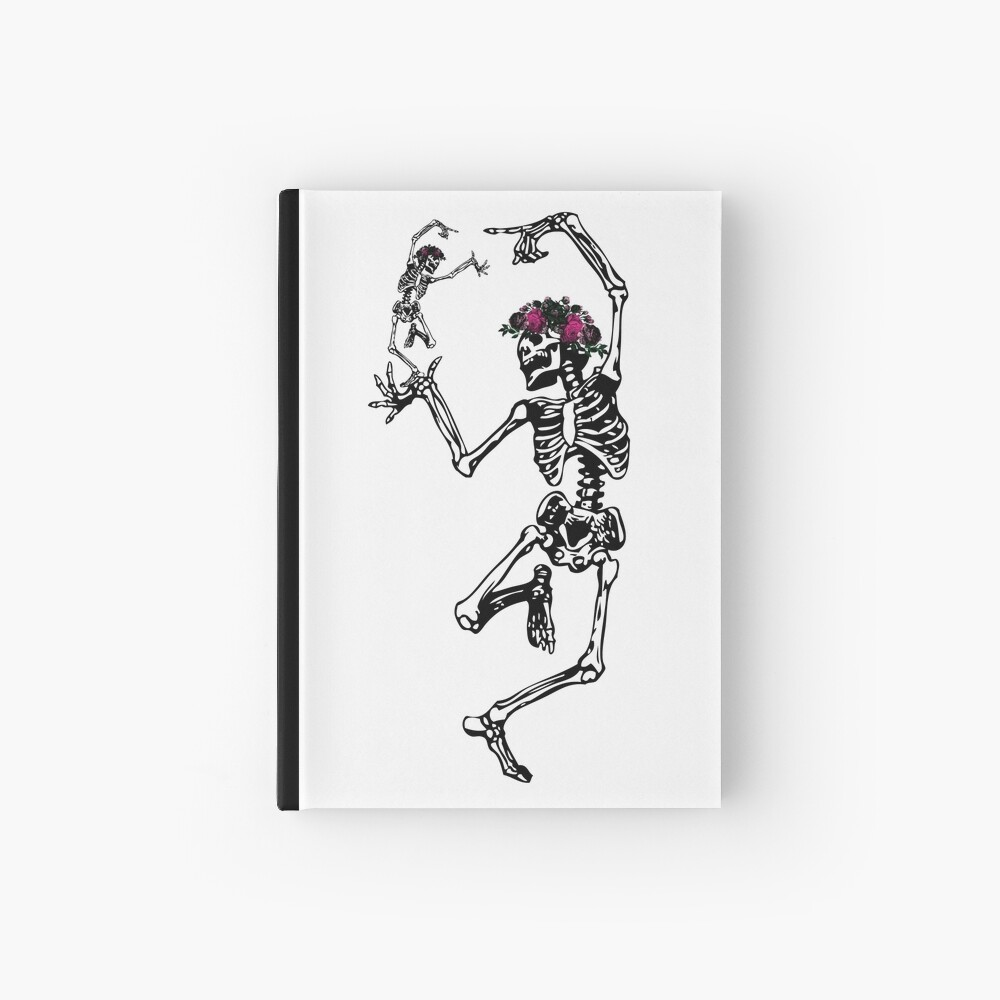 Two Dancing Skeletons | Day of the Dead | Dia de los Muertos | Skulls and Skeletons | Hardcover Journal