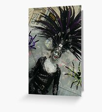 black widow Spider Greeting Card