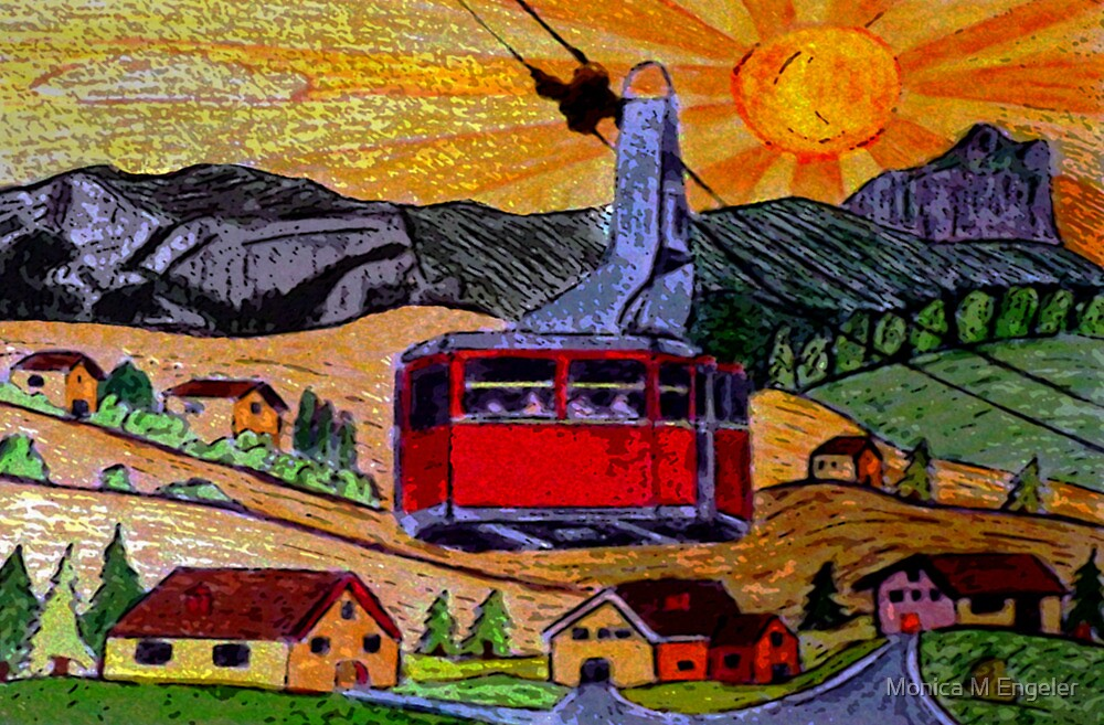 Sunset Ride by Monica Engeler