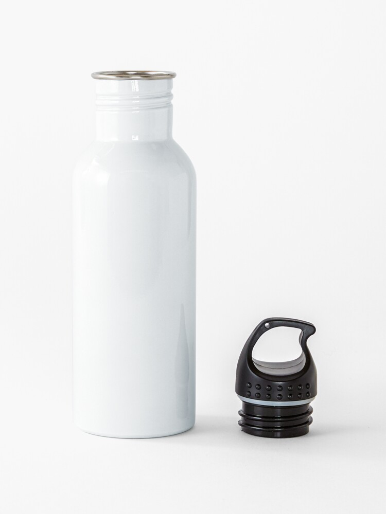 Alternate view of Well Behaved Women Seldom Make History (Black and White Version) Water Bottle