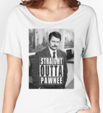 Striaght Outta Pawnee Women's Relaxed Fit T-Shirt