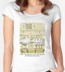 The Big Chicken - head of the chicken coop. Women's Fitted Scoop T-Shirt