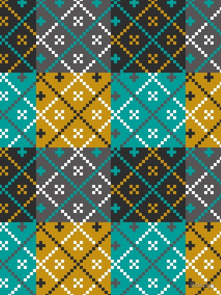 Folk Art Patchwork pattern by illidesign