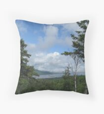 The Englishtown Ferry Throw Pillow
