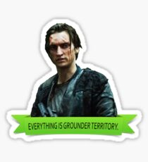 EVERYTHING IS GROUNDER TERRITORY  Sticker
