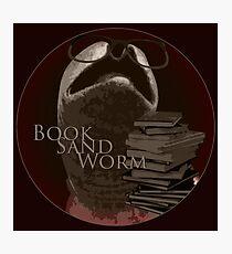 Book Sand Worm Photographic Print